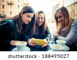 three beautiful friends... | Shutterstock . vector #188495027
