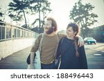 young modern stylish couple... | Shutterstock . vector #188496443