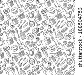 seamless pattern with kitchen... | Shutterstock .eps vector #188504753