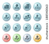users icons on color buttons. | Shutterstock .eps vector #188540063