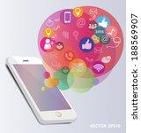 social media concept vector... | Shutterstock .eps vector #188569907