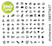 vector dodle icons | Shutterstock .eps vector #188573627