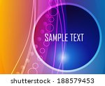 color abstract background | Shutterstock .eps vector #188579453