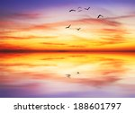 colorful one day at sea | Shutterstock . vector #188601797