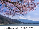 mt fuji and cherry blossom at... | Shutterstock . vector #188614247