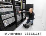 it consultant work in datacenter   Shutterstock . vector #188631167