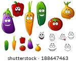 cucumber  pepper  eggplant ... | Shutterstock .eps vector #188647463