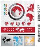 world map  vector set   Shutterstock .eps vector #188649077