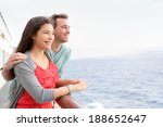 romantic happy couple on cruise ... | Shutterstock . vector #188652647