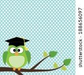 Owl With Graduation Cap Sittin...