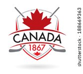 a canadian crest with crossed... | Shutterstock .eps vector #188669363
