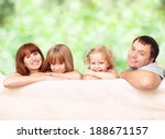happy family with two children... | Shutterstock . vector #188671157
