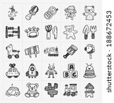 doodle toy icons | Shutterstock .eps vector #188672453