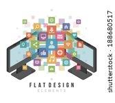 flat design vector illustration ...   Shutterstock .eps vector #188680517