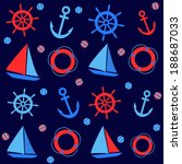 background with nautical... | Shutterstock .eps vector #188687033