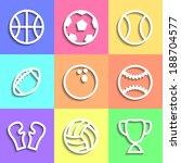 set of flat sports icons...