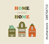 Home Sweet Home Card Design....
