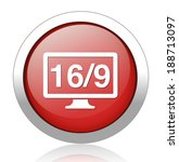 16 9 display icon | Shutterstock .eps vector #188713097