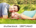 a young beautiful couple in... | Shutterstock . vector #188714663
