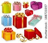 gift boxes   Shutterstock .eps vector #188723357