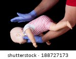 doctor showing first aid for... | Shutterstock . vector #188727173