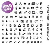 vector doodle icons | Shutterstock .eps vector #188750153