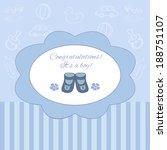 congratulations  it's a boy... | Shutterstock .eps vector #188751107