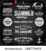 retro elements for summer... | Shutterstock .eps vector #188774693