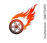 red and orange burning car wheel | Shutterstock .eps vector #188776493