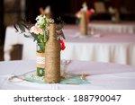 diy wedding decor table... | Shutterstock . vector #188790047