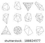 abstract modern  polygonal...   Shutterstock . vector #188824577