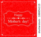 happy mother's day  greeting...   Shutterstock .eps vector #188856113
