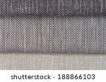 closeup detail of grey fabric... | Shutterstock . vector #188866103