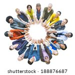 multi ethnic diverse group of... | Shutterstock . vector #188876687