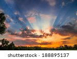 Stock photo sunset sky 188895137