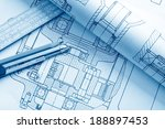 industrial drawing detail and... | Shutterstock . vector #188897453