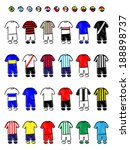 Latin american Clubs Jerseys Football Kits Pencil Style