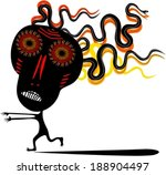 running man in scary mask with... | Shutterstock .eps vector #188904497