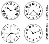 set of different clock faces.... | Shutterstock .eps vector #188915867