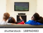two young couples watching... | Shutterstock . vector #188960483