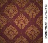 vector  pattern endless floral... | Shutterstock .eps vector #188960543