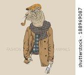Fashion Illustration Of Tiger...
