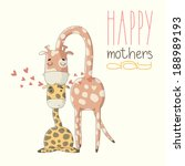 greeting card for mother's day. ... | Shutterstock .eps vector #188989193