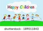 happy children | Shutterstock .eps vector #189011843