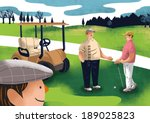 men playing golf | Shutterstock . vector #189025823