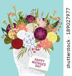 happy mother's day card | Shutterstock . vector #189027977