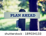 old rustic signpost with the... | Shutterstock . vector #189034133