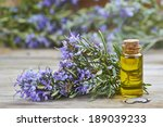 rosemary essential oil in a...   Shutterstock . vector #189039233