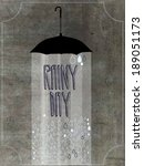 rainy day poster and rustic...   Shutterstock .eps vector #189051173