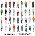 group of multiethnic mixed... | Shutterstock . vector #189080483